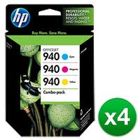 HP 940 Multi-Color Original Ink Cartridges-3 Cartridges (CN065FN)(4-Pack)