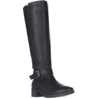 Easy Spirit Nadette Flat Riding Boots - Dark Brown