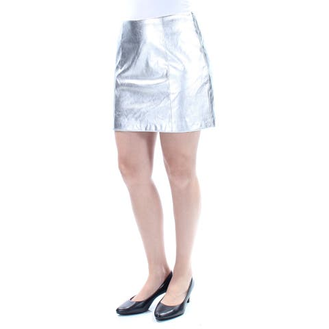 GUESS Womens Silver Mini A-Line Party Skirt Size: 0