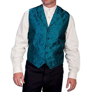 Scully Western Vest Mens Manly Quality Lined Paisley Button RW093XX