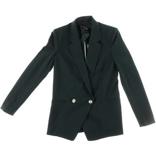 Theory Womens Notch Collar Long Sleeves Double-Breasted Suit Jacket - 10