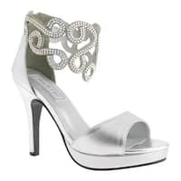 Touch Ups Women's Saturn Ankle Strap Sandal Silver Metallic
