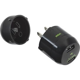 RCA 2.1 Blk 2 Usb Charger