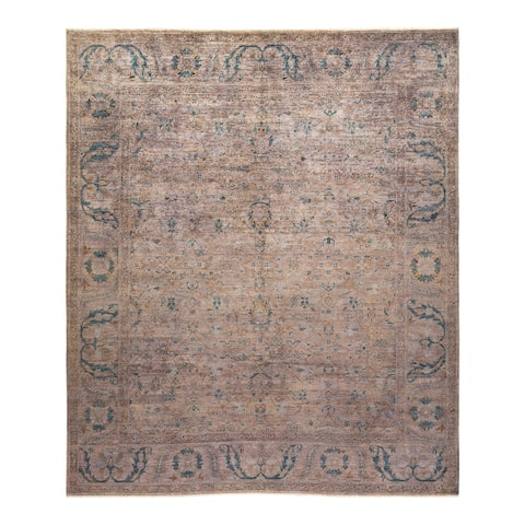 """Vibrance, One-of-a-Kind Hand-Knotted Area Rug - Brown, 8' 3"""" x 10' 1"""" - 8' 3"""" x 10' 1"""""""