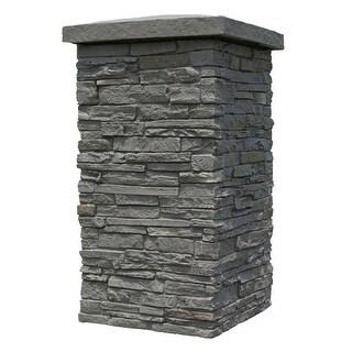 "NextStone Polyurethane Faux Stone 16"" x 16"" x 30"" Slatestone Column Wrap"