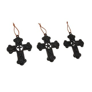 Cross, Western Star and Horse Head Cast Iron Wall Cross 3 Piece Set