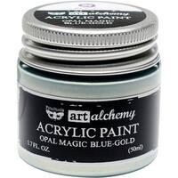 Finnabair Art Alchemy Acrylic Paint 1.7 Fluid Ounces-Opal Magic Blue/Gold
