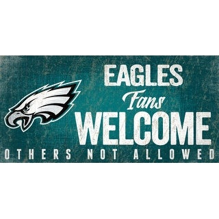 Link to Philadelphia Eagles Wood Sign Fans Welcome 12x6 Similar Items in Fan Shop