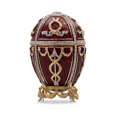 Bordeaux Imperial Faberge Egg w/ Musical Box