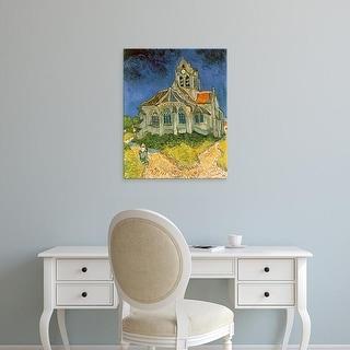 Easy Art Prints Vincent Van Gogh's 'The Church at Auvers' Premium Canvas Art