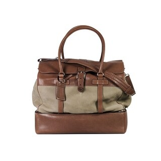 Brunello Cucinelli Mens Grey Brown Suede Leather Large Travel Bags