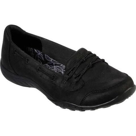 Skechers Women's Relaxed Fit Breathe-Easy Sole-Full Slip On Black