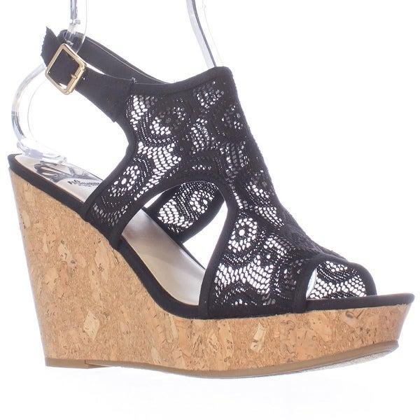 Fergalicious Womens Valeria Fabric Open Toe Casual Platform Sandals