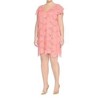 BB Dakota Womens Plus Cocktail Dress Lace Scalloped Hem