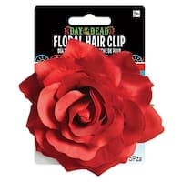 Day of The Dead Rose Hair Clip Adult Costume Accessory