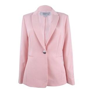 Tahari ASL Women's Single-Button Peak-Collar Blazer