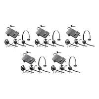 Plantronics EncorePro HW540 with M22 (5-Pack) 3-in-1 Mono Corded Headset