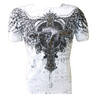c8711b44 Konflic NWT Men's Holy Cross and Wings Emblem Graphic MMA Muscle T-shirt