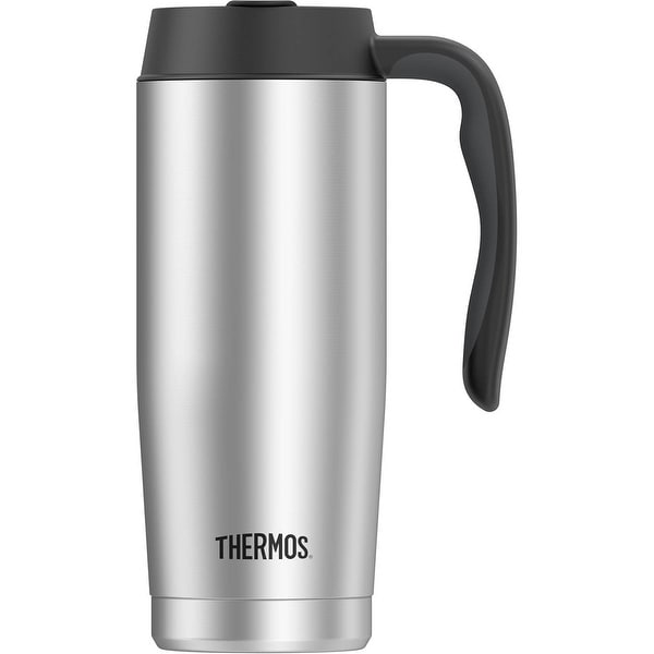 Thermos 16 oz. Vacuum Insulated Stainless Steel Travel Mug - Silver - 16 oz.