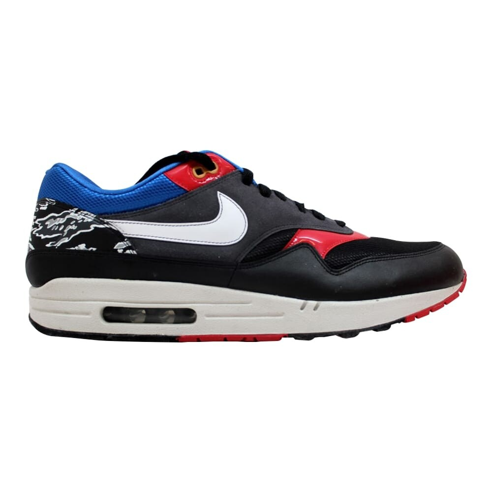 air max 1 black white red