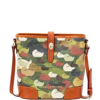 Dooney & Bourke Camouflage Duck Crossbody Bucket (Introduced by Dooney & Bourke at $258 in Dec 2014) - Green