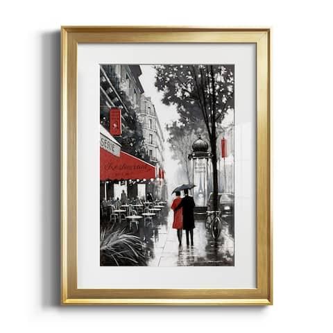 Rainy Paris II Premium Framed Print - Ready to Hang
