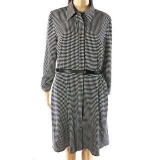 Lauren Ralph Lauren NEW Black Womens Size 18 Belted Button Shirt Dress