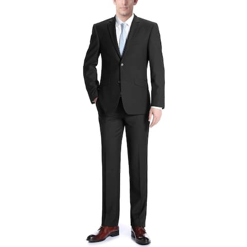 Men's Suit 2 Piece Two Button Modern Slim Fit Blazer & Trousers Suit