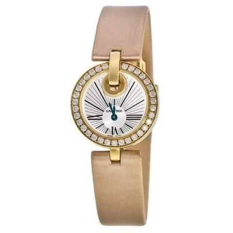 Cartier Women's WG600011 'Captive De Cartier' Brown Fabric Watch