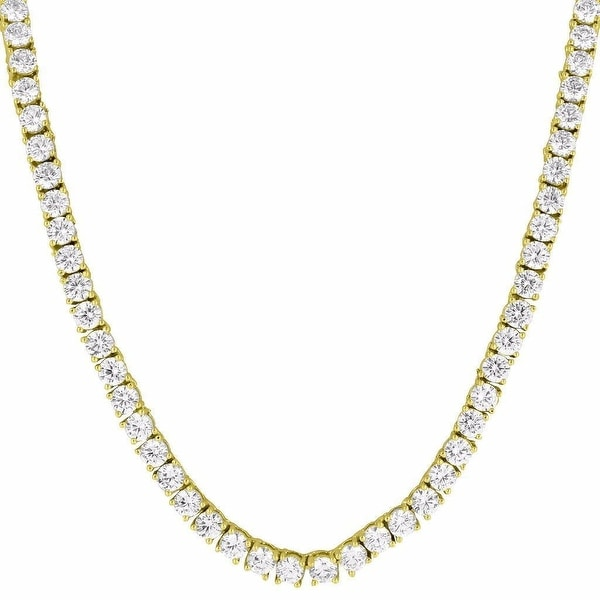 Mens Tennis Chain Necklace 3 MM Iced Out Lab Diamonds Hip Hop