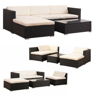 Costway 5 PCS Patio Furniture Set Rattan Wicker Table Shelf Garden Sofa W/ Cushion Brown|https://ak1.ostkcdn.com/images/products/is/images/direct/9d8b5654beccdc5b7560dd2014b3619794fc0e8f/Costway-5-PCS-Patio-Furniture-Set-Rattan-Wicker-Table-Shelf-Garden-Sofa-W--Cushion-Brown.jpg?impolicy=medium