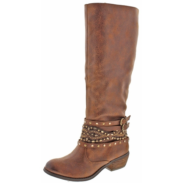 Not Rated Hipster Women's Strappy Knee-High Boots