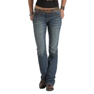 Cruel Girl Western Denim Jean Womens Abby Arrowhead Med CB43754071