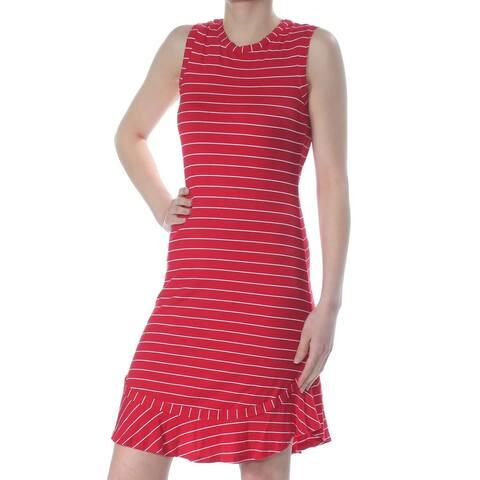 Maison Jules Women's Ruffled-Hem Sheath Dress Firespin Combo Size 2 Extra Small
