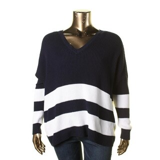 Lauren Ralph Lauren Womens Pullover Sweater Knit Striped