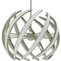 "Blackjack Lighting SWL-32P Swirl 9 Light 32"" Wide Integrated LED Globe Chandelie"