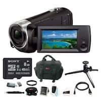 Sony HDRCX405 Handycam 1080p HD Camcorder w/ 8GB microSDHC Card & Software Bundle