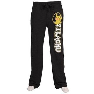 Pokemon Pikachu Black Adult Men's Lounge Pants XX-Large