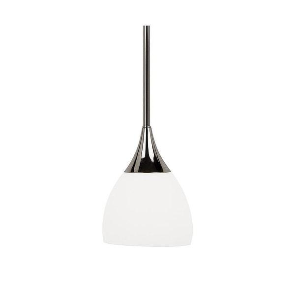 Sea Gull Lighting 61791-841 Solana 1-Light Mini Pendant Polished Nickle Finish - Nickel Finish