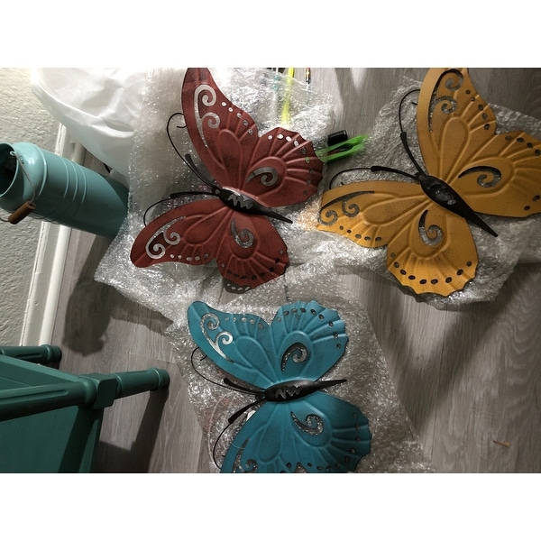 Other Home Arts & Crafts Home Arts & Crafts Set Of 4 Metal Gold-tone Butterfly On Mounting Wire For Crafts Or Home Decor Fashionable Patterns