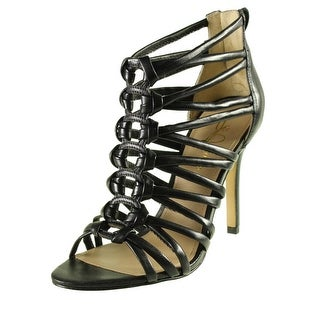 Joan & David Womens Partitia Leather Knot-Front Gladiator Sandals