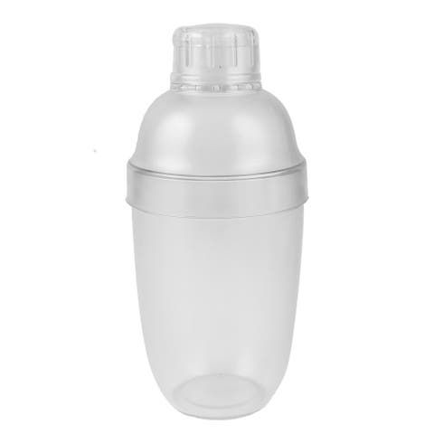 """Cocktail Shaker PC Resin 530ml Martini Bartender Bar Drink Shakers - Clear - 7.7"""" x 3.3""""(H*Max.Dia.)"""