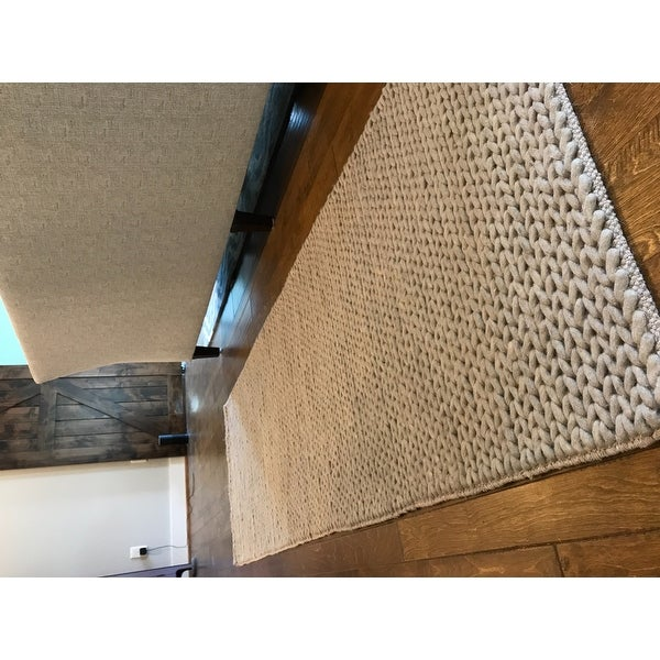 nuloom handmade chunky braided light grey wool runner rug 2u00276 x 8u0027 free shipping today