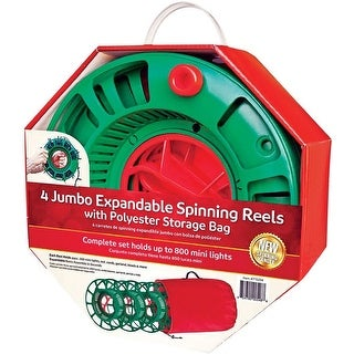Extension Cord Or Christmas Light Reels With Bag Set Of 4
