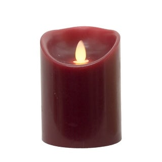 """Link to 4.75"""" Red Burgundy LED Candle Pillar Similar Items in Decorative Accessories"""