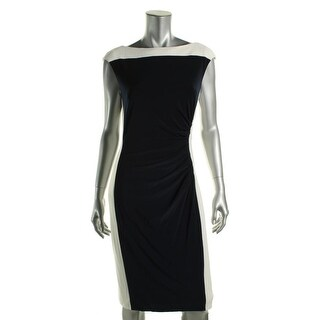 Lauren Ralph Lauren Womens Color block Sleeveless Wear to Work Dress - 8