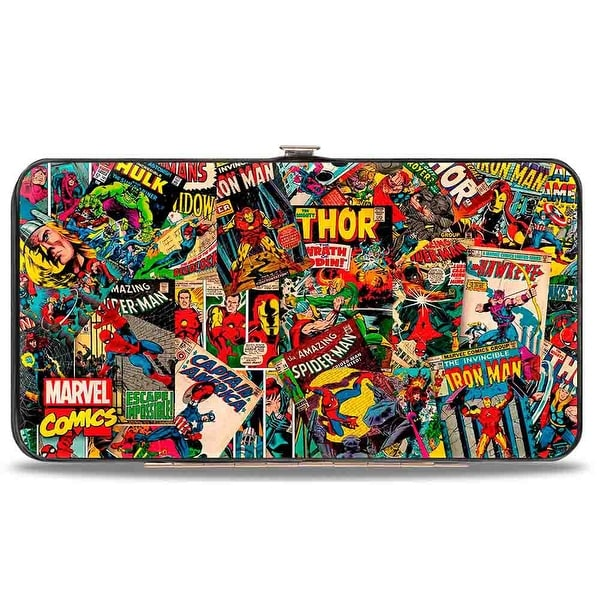 Marvel Comics Retro Marvel Comic Books Stacked Hinged Wallet One Size - One Size Fits most