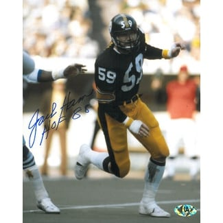 cheap for discount fb7ef 7654c Jack Ham signed Pittsburgh Steelers 8x10 Photo HOF 88 black jersey