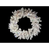 "36"" Pre-Lit B/O LED White Pine Christmas Wreath - Multi Lights"