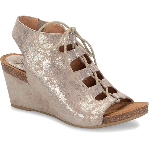Sofft Womens maize Suede Open Toe Casual Platform Sandals